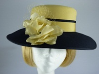 Eastex Wedding hat Navy and Gold